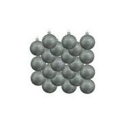 Merkloos 18x Glazen kerstballen glans mintgroen 6 cm kerstboom versiering/decoratie
