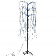 vidaXL Върбово дърво, LED синя светлина, 150 см.