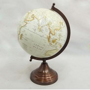 EnticeSelections Antique Handicrafted Big Desktop Rotating Globe Earth Geography World Globes Ocean Table DŽcor 8 Inch