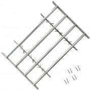 vidaXL Регулируема решетка за прозорци с 4 напречни ребра, 500-650 мм