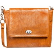 Louise Belgium Women Brown Leatherette Sling Bag