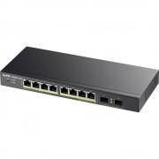 ZyXEL 10x GE GS1900-10HP 8x PoE Ports, 2x SFP Mrežni preklopnik 10 ulaza