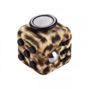 Cheetah Fidget Cube /avslappnings-kuben – Djungelmönstrad