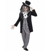 Sombrerero loco cuento de hadas Halloween negro-blanco hombre M / L (52)