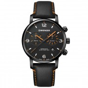 Wenger Urban Metropolitan Reloj de cuarzo Cronógrafo acero inoxidable black/black