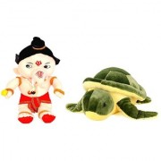 Yashi Enterprises Soft toy combo of Set of 2 Small Bal Ganesha 40 CM With Turtle