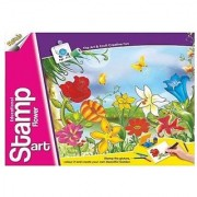 Ratna's Toyztrend Educational Art & Craft Stamp Art Flowers Big With 14 Different Flowers Stamps For Kids Ages 4+
