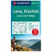 Kompass Lana, Etschtal Lana, Val d`Adige Carta escursionistica