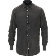 Massimo Alba Vajella Flannel Overdyed Shirt Midnight