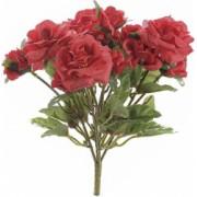 Buchet de flori artificiale trandafiri rosii 15 H