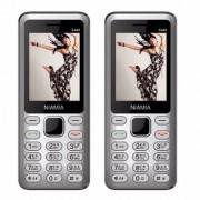 Niamia CAD 2 Silver Basic Keypad Feature Mobile Phone Combo