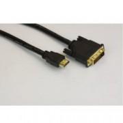 Кабел VCom CG481G-2m, от DVI(м) към HDMI(м), 2м, екраниран, черен