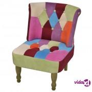 vidaXL Francuska Fotelja s Patchwork Dizajnom Tkanina
