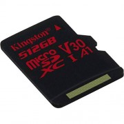 Kingston Tarjeta de Memoria microSDXC para LG K371 (512 GB, 100 MB/s, Adaptador SD) (Clase 10/UHS-I/U3/A3/V30)