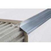 Profil aluminiowy balkonowy naturalny 35mm 2,5m - okapnik w kolorze naturalnym pak. 5szt.