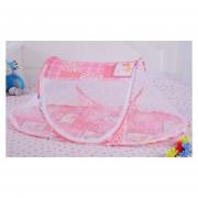 Mosquiteros De Plegables Portátiles Tipo De Barco Para Bebé - Rosa