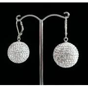 Lafira stříbrné náušnice Swarovski Ball Crystal 020