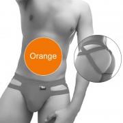 Icker Sea Hoops Jock String Jock Strap Underwear Orange COI-20-01