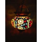 Multicolor Flower design Hanging Lamp Shade Decorative Glass Ceiling Lamp pendant