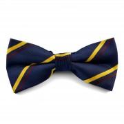 Tailor Toki Marineblau-gelb gestreifte Fliege