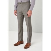 Next Slim Fit Wool Blend Suit: Trouser - Taupe - Mens Trousers