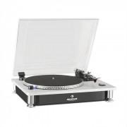 Auna TT-933 Plattenspieler 33/45 U/min Pitch Control schwarz silber