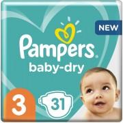 Pampers Baby-Dry - Maat 3 (6-10kg) - 31 Luiers