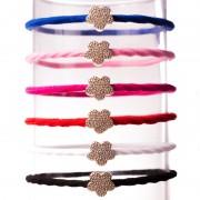 V&V Vlasová gumička Květina (světle růžová barva) - V&V