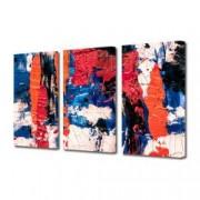 Tablou Canvas Premium Abstract Multicolor Amestec De Culori 1 Decoratiuni Moderne pentru Casa 3 x 70 x 100 cm
