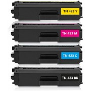 Merkloos - Tonercartridge / Alternatief voor Brother TN-423 Compatible met Brother HL-L8260CDW HL-L8360CDW MFC-L8690CDW MFC-L8900CDW - Zwart, Cyaan, Magenta, Geel
