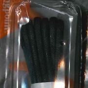 Zwarte ronde wax veters voor nette schoenen - 120cm lang rond