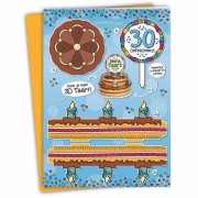 Merkloos Verjaardag 30 jaar XXL taartkaart