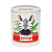 Bellatio Decorations Kinder spaarpot met zebra print 9 cm