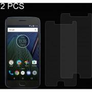 2 PCS Para Motorola Moto G5 Plus 0.26mm 9h Dureza Superficial A Prueba De Explosion No Pantalla Completa Pantalla De Cristal Templado Film