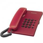 Стационарен телефон Panasonic KX-TS500, Червен, 1010054