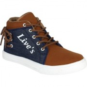 Weldone Red Lace-up Canvas Air Mix Sneakers/Casual Shoes For Men