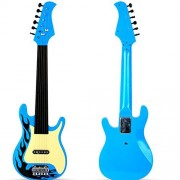 26' Classic Acoustic Beginners Children Simulation Electric Guitar Kid's 6 String Musical Instruments Toys Blue