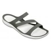 Crocs Swiftwater™ Sandalen Damen Smoke / White 37