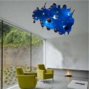 Etiqueta engomada decorativa desprendible de la pared del espacio galactico de DIY 3D - azul