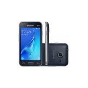 Celular Samsung Galaxy J1-J105B Mini Preto, Dual Chip, 3G, 8GB, Tela 4, Câmera 5MP, Processador Quad-Core 1.2Ghz, Android 5.1, Desbloqueado