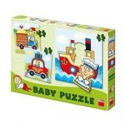 Set de puzzle-uri Dino Toys Vehicule, 3-5 piese, 3-4 ani