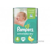 Pampers Active Baby Value Pack pelene 4 Maxi 49 komad