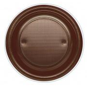 Plato de Plastico PS Hondo Chocolate Ø220mm (600 Uds)