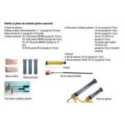 Dibluri perforate pentru ancore chimice 12/50 pentru caramida cu goluri