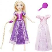 Papusa Hasbro Disney Princess Rapunzel cu Mecanism de Rotire a Mainii cu Par Lung si Tigaie
