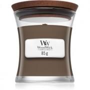 Woodwick Black Amber & Citrus lumânare parfumată cu fitil din lemn 85 g