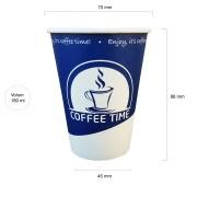 Coffee Time pahare automate carton 180 ml set 50 buc