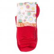 SixSox piros gyerek zokni