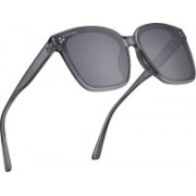 ROYAL SON Over-sized Sunglasses(Black, Grey)