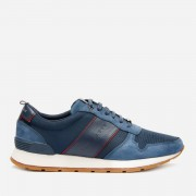Ted Baker Men's Lhennis Textile/Nubuck Running Style Trainers - Dark Blue - UK 7 - Blue